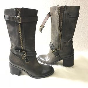 "FRANCO SARTO ""Banks"" Mid Calf Boots Dark Taupe"